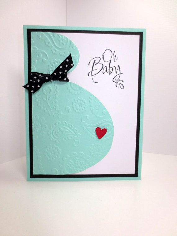 Handmade Baby Shower Card: Stampin Up, Pregnancy, Congratulations on your Baby