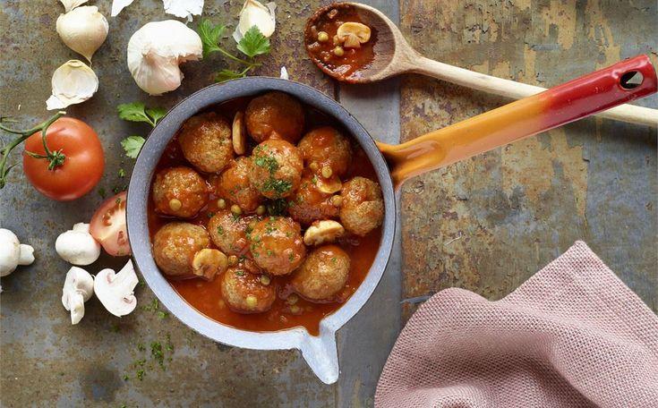 """""""Albóndigas Con Tomate Y Verduras"""" en Nestlé Cocina #recetas #nestlecocina #menuplanner #cocina"""