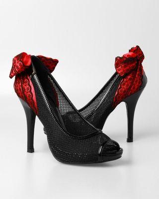 Iron Fist Mesh Up Heels - Black