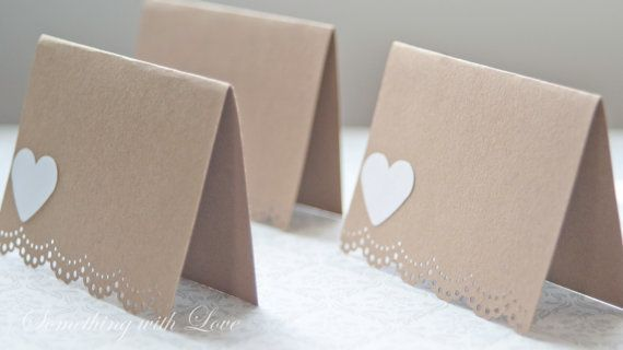 Escort Cards -Wedding place cards - DIY Wedding Personalized by Something with Love
