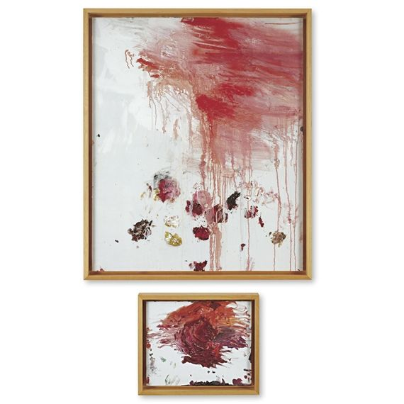 Cy Twombly, Untitled (A Painting in Two Parts) (Bassano in Teverina)