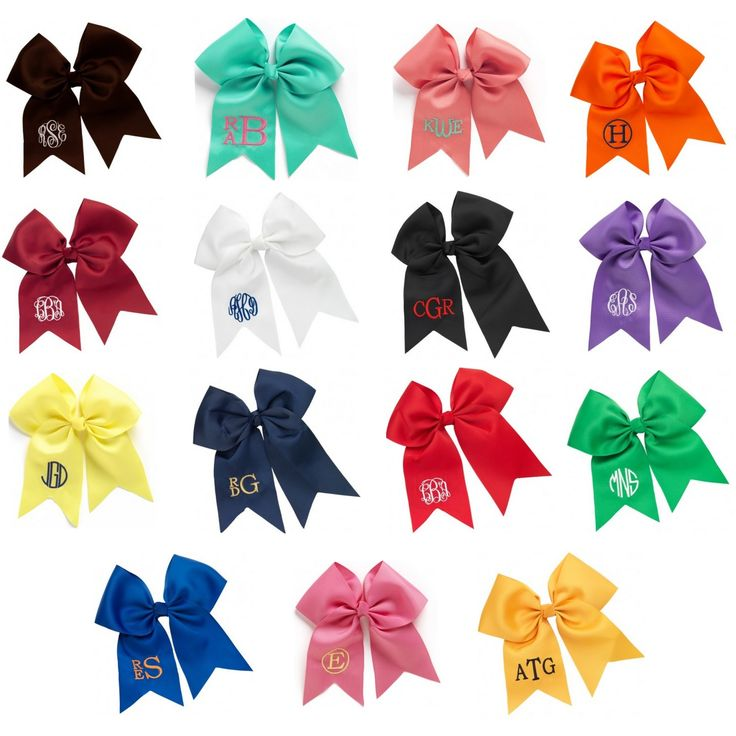 Monogrammed Grosgrain Hairbow - Available in Several Colors