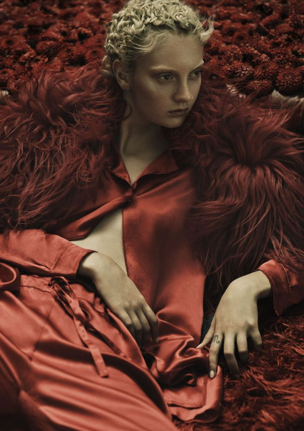 Rory Payne Brilliantly Delivers Codie Young As The Lady In Red For Exit Magazine #11 Fall/Winter2014-2015