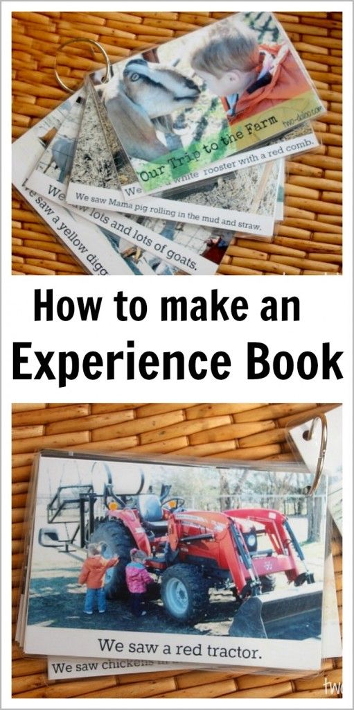 How to make an experience book to build language and literacy skills