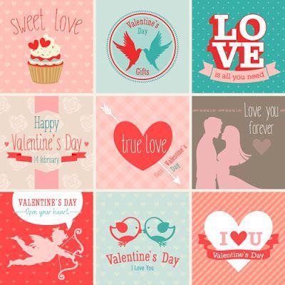 Tarjetas de San Valentín gratis en vector - recursos WEB & SEO