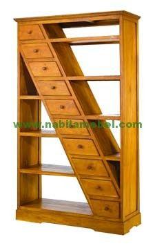 Rak Buku Modern Terbaru merupakan produk furniture jepara yang kami produksi dengan bahan baku kayu jati berkualitas