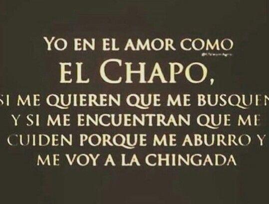 Yo en el amor como el Chapo