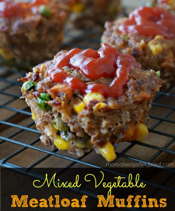 Mixed Veggie Meatloaf Muffins Recipe. Easy Family Dinner ideas. sponsored #QuakerUp