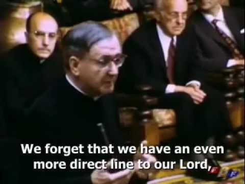 """[VIDEO] St. Josemaria Escriva on Prayer, """"Our Direct Line to God"""""""