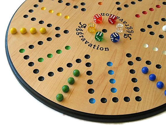 This item is IN STOCK! We make a beautiful handcrafted 18 wooden Maple Aggravation board game!  Cant afford the movies these days? Who can! Bring