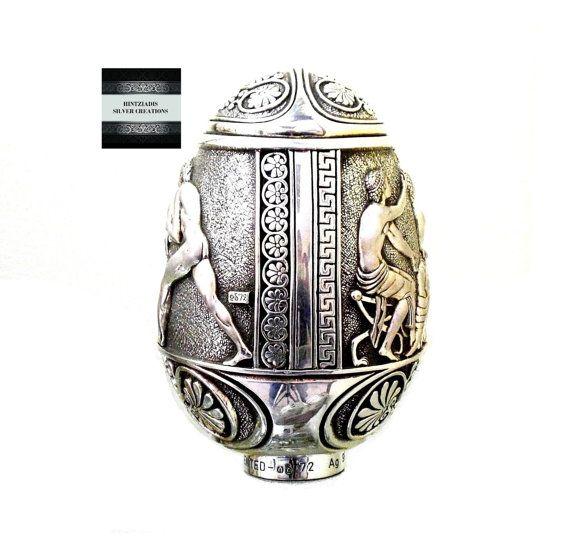 HELLENIC WRESTLING ORACLES. Handmade Silver by HintziadisCreations