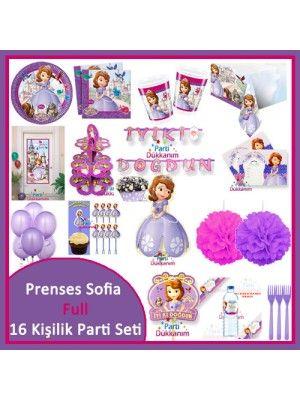 Prenses Sofia Full Parti Seti (16 Kişilik)