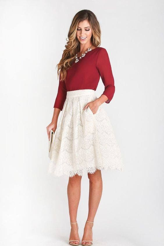 I'd pick a different colored top, but the skirt is super cute!
