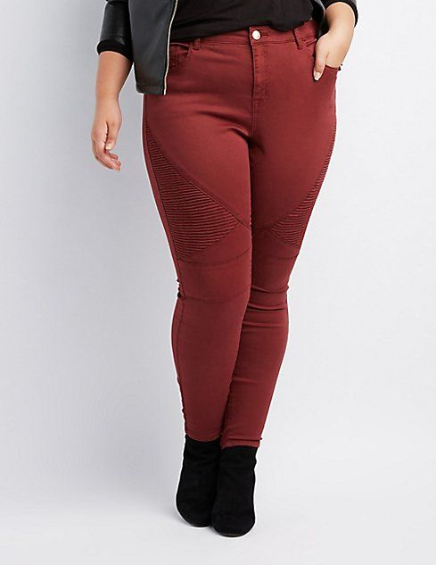 056cda572584b Plus Size Refuge Moto Skinny Jeans