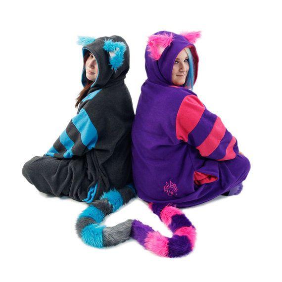 Pawstar CHESHIRE CAT KIGU Kitty kigurumi fursuit kostuum cosplay Alice wonderland pyjama