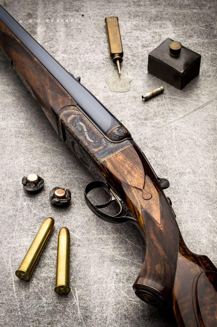 Westley Richards, .577, droplock, double rifles.  What a beautiful gun!