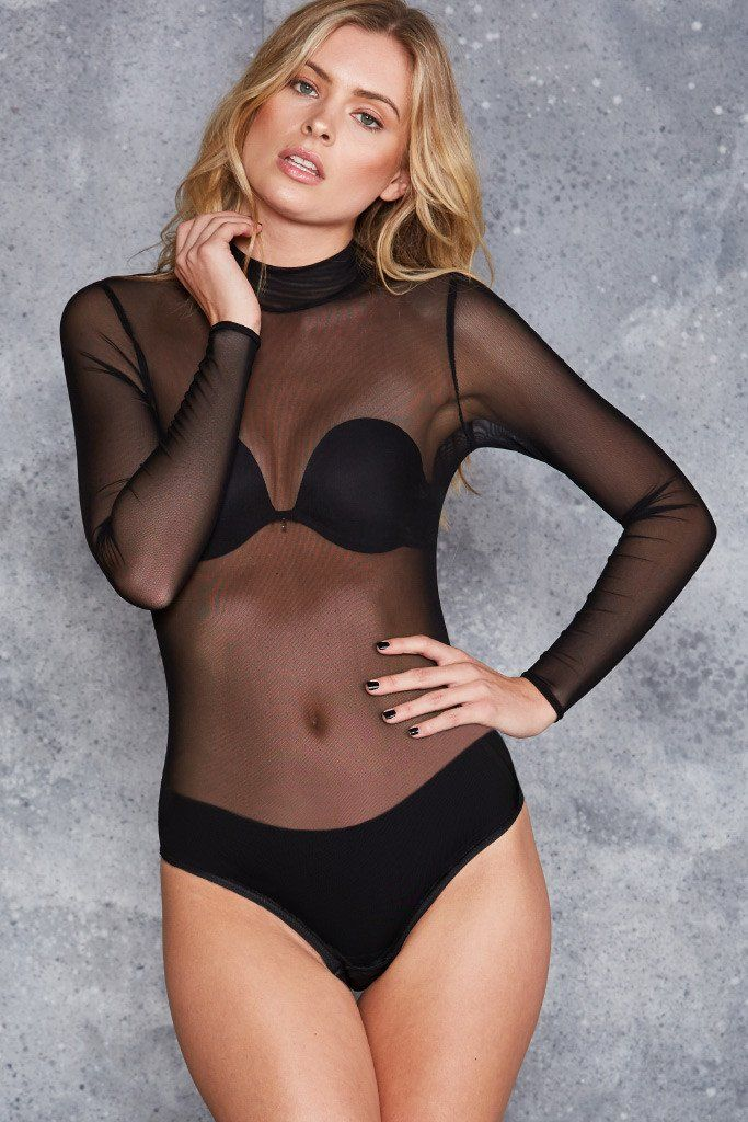 It's a bodysuit, it's a top, it's underwear, it's the ultimate layering piece. What a mesh – a totally outrageous, hot little mesh. This piece is totally sheer,