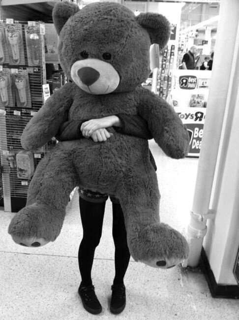 i really wish i could get a huge teddy bear for valentines day or for my bday or whatever...im not picky lol