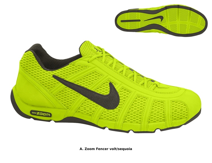 "The 2012 ""Volt"" color scheme for the Nike Fencing Shoe"