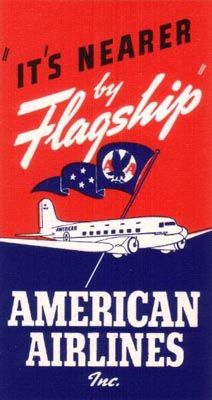 American Airlines Flagship poster, 1940