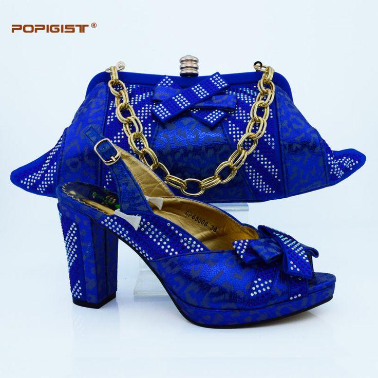 Los zapatos y las empaquetaduras italianos baratos del precio bajo del azul real los 10cm del talón fijaron en el envío libre rápido de la boda y del partido (China (continente))