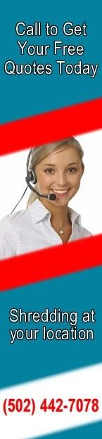 Call Louisville Paper Shredding for all of your shredding needs 504-442-7078