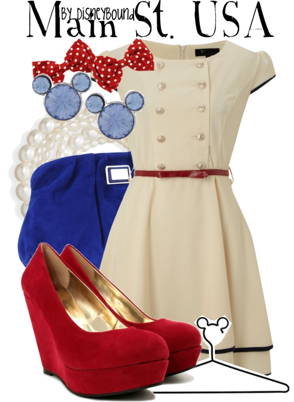"""Main St. USA"" by lalakay ❤ liked on Polyvore"