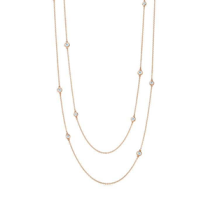 The chicest women wear diamonds irreverently. This diamond-sprinkled necklace embodies that idea. #DropAHint