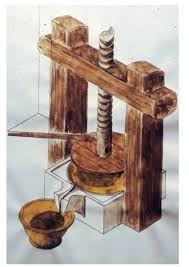 Resultado de imagen para prensas para aceite en la antiguedad