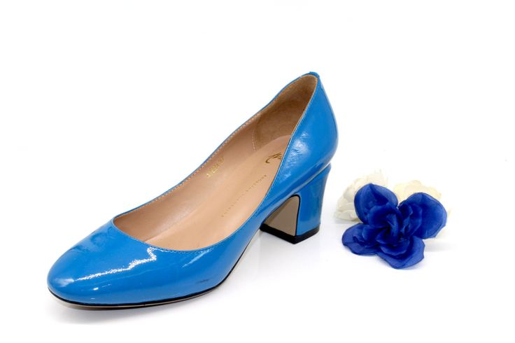 2 inch heels - Classic Blue Kitten Office Pumps