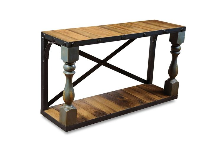 #LGLimitlessDesign #Contest The Global Craftsman CONSOLE TABLE Console table made from beautiful reclaimed chestnut wood accented with French balustrade columns. Sourced when featured on my new like Barnwood Builders.