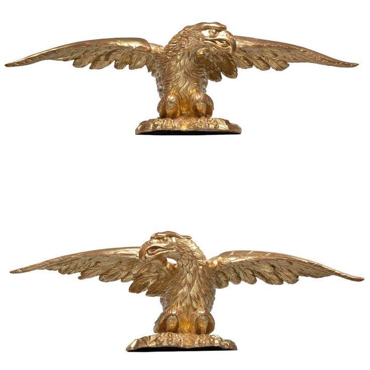 Carved Gilt Eagles