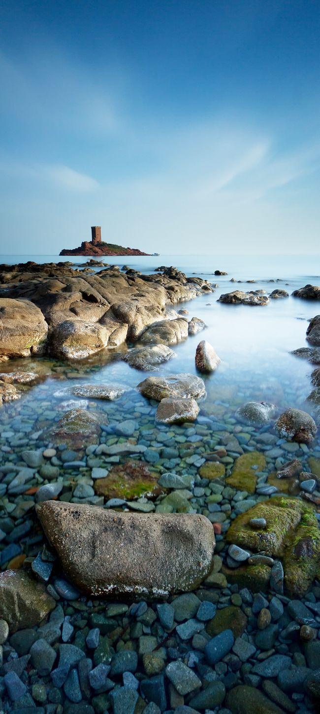 Île d'Or,Saint-Raphaël, France.  travel images, travel photography, travel destinations