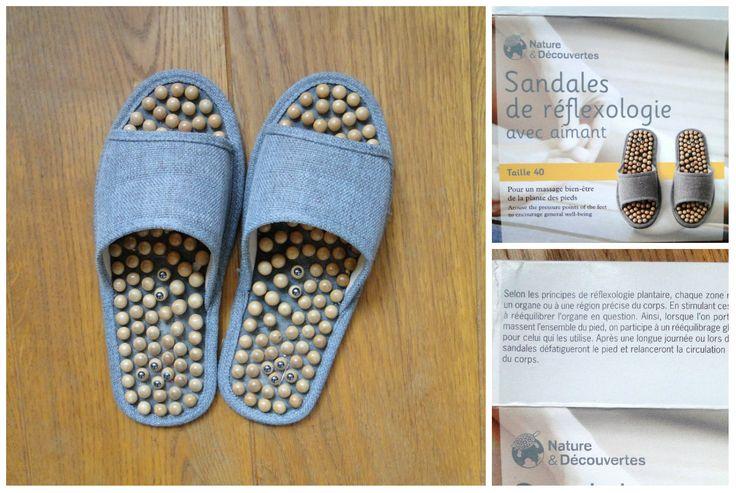 Sandales à picots pour réflexologie plantaire