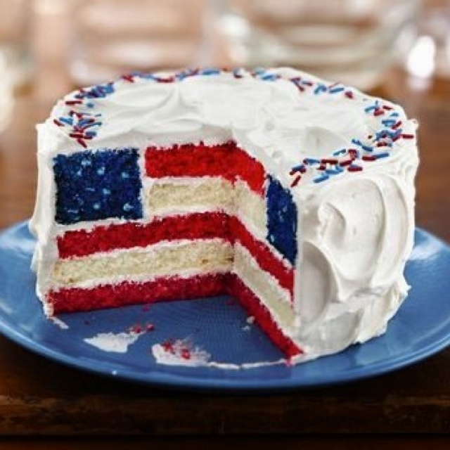 92 best patriotic cake decorating ideas images on pinterest for American flag cake decoration
