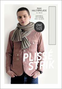 Opskrift på plisséstrikket maxi halstørklæde af Hanne Meedom & Sofie Meedom