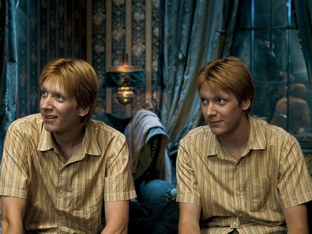 Which Weasley Twin Is The One On Your Right Weasley Twins Fred And George Weasley Harry Potter Actors