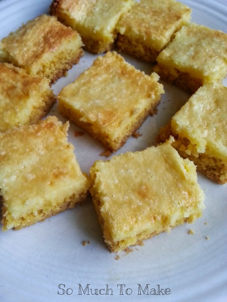 So Much To Make: Lemon Chess Squares