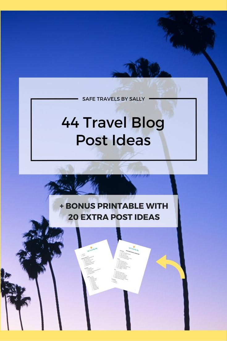 Are you stuck on your next post? Struggling with what to write about? Here's 44 Travel Blog Post Ideas for your content library + a BONUS printable with 20 extra ideas for you to keep on file.