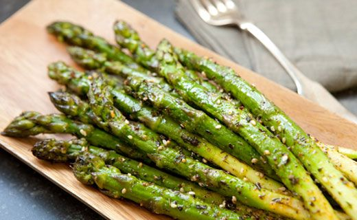 Side: Epicures Roasted Asparagus (90 calories/serving)