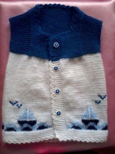 Gemili örgü bebek yeleği - Hepsi Ev Yapımı