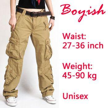Cheap Envío libre CPAM de 2.013 pantalones anchos de la pierna del ejército guardapolvos carga camo militares para las mujeres hip hop ropa de camuflaje, Compro Calidad Pantalones y Capris directamente de los surtidores de China:             Color: Caqui (cm )       tamaño     cintura     cadera     longitud     peso       27 ( XXS )     74     9