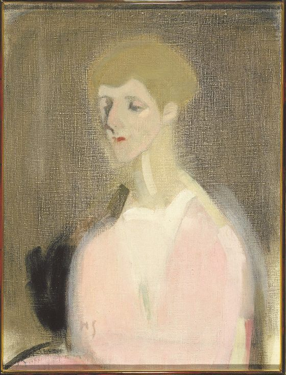 Countess Marina de Hayden painted by Helene Schjerfbeck. Emigrantti 1917