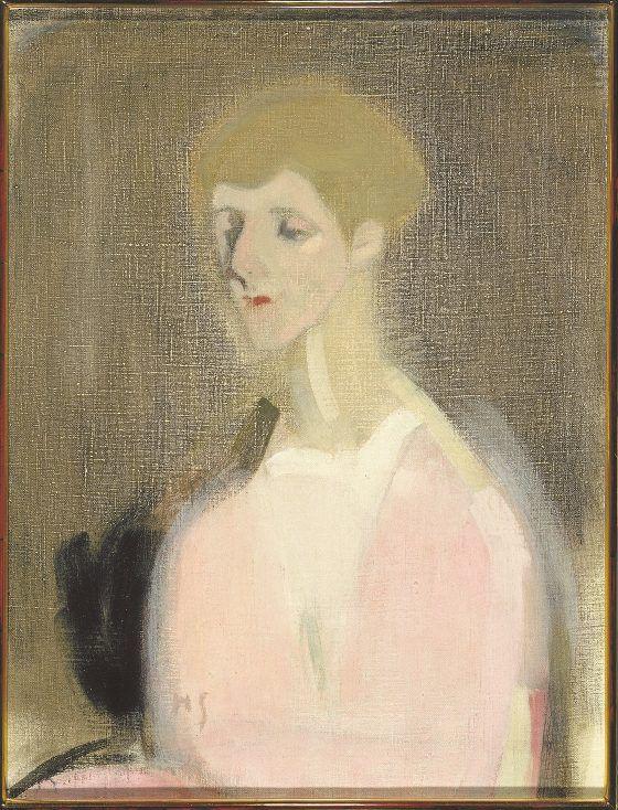 Countess Marina de Hayden painted by Helene Schjerfbeck. Emigrantti 1917
