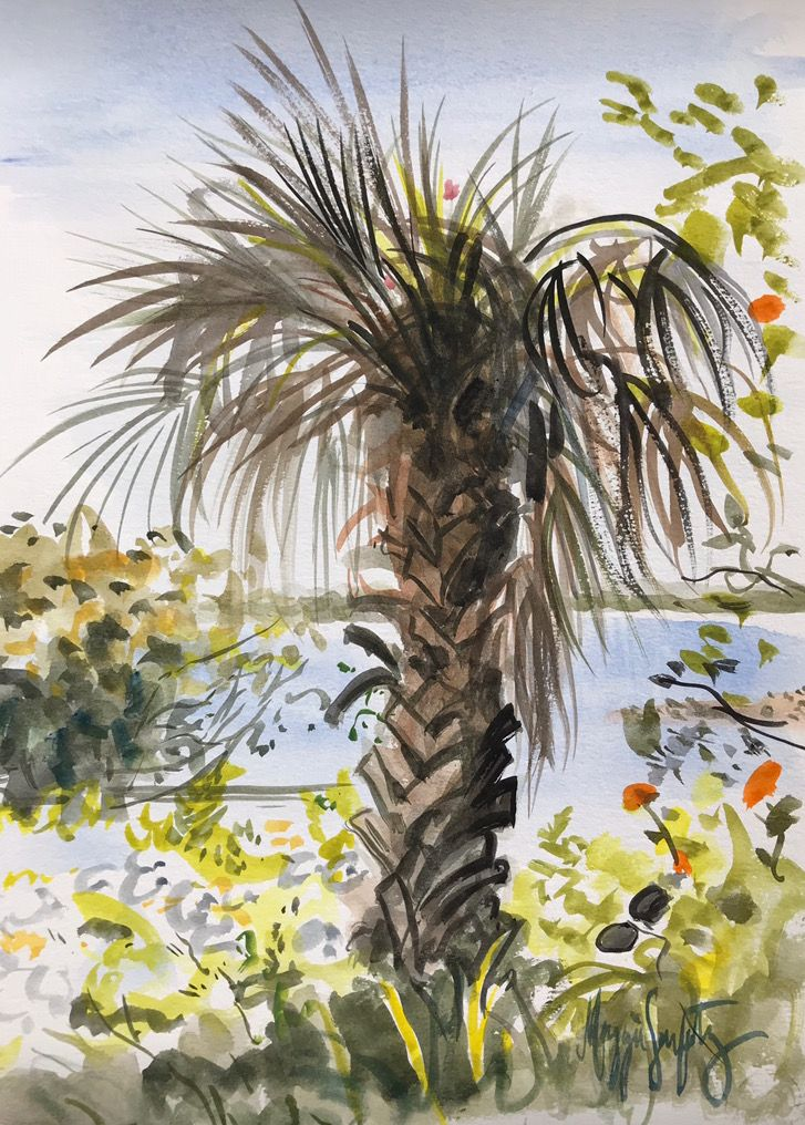 A Plein Air Watercolor I Painted On Sanibel Island Painting Art