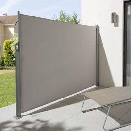 Brise vue rétractable Liso gris clair L.3 x h.1,60 m