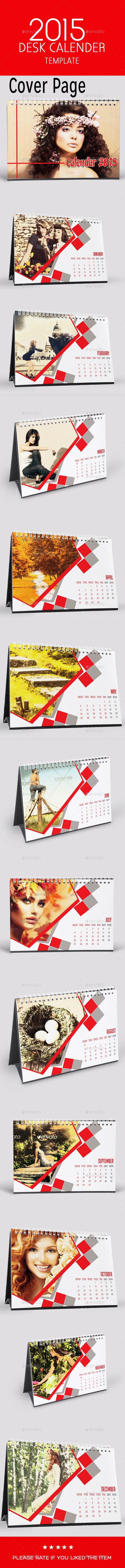 2015 Multipurpose Photo Action Desk Calendar