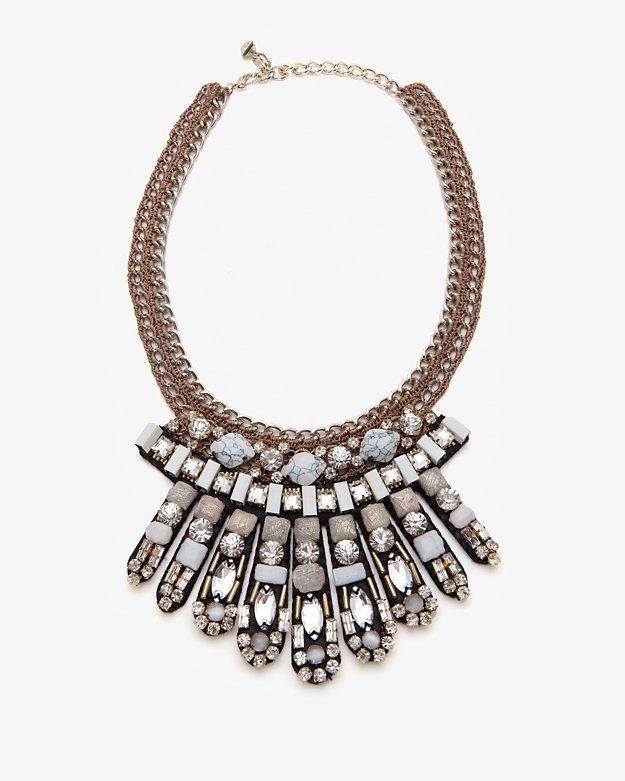 Nocturne embellished collar-~