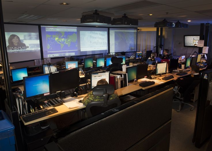 A view of the East Coast's Marine Security Operations Centre in Halifax.