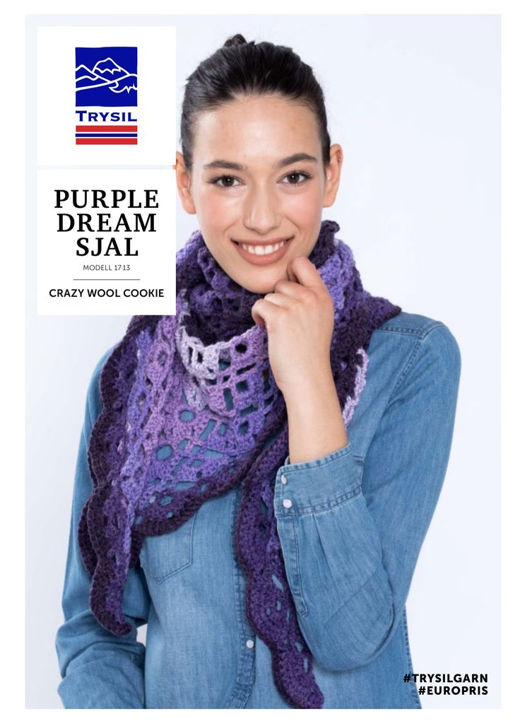 Crocheted shawl by Helle Slente Design/House of Yarn - Europris   FREE PATTERN